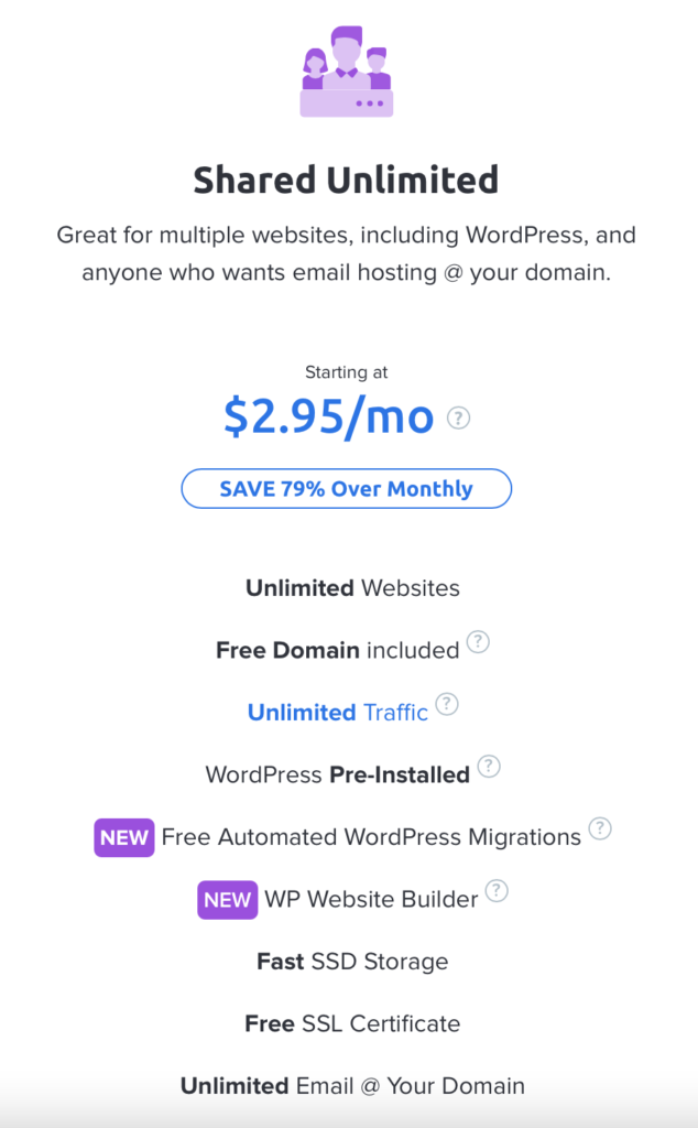 Shared unlimited Dreamhost